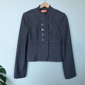 Cynthia Steffe Gray Military Band Style Jacket